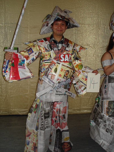 All you get to make with Newspapers Junk Mail tape and staples scissors 1 hour on the clock  sc 1 st  RANGIWAHIA ENVIRONMENTAL ARTS CENTRE : junk mail costume  - Germanpascual.Com
